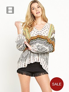 south-v-neck-boho-print-tunic-top
