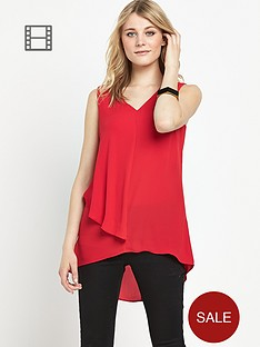 south-ruffle-front-longline-blouse