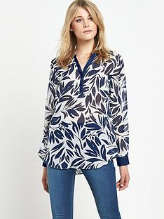 south-contrast-half-placket-blouse