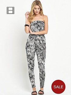 south-aztec-print-bandeau-jersey-jumpsuit