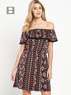south-jersey-aztec-frill-bardot-day-dress