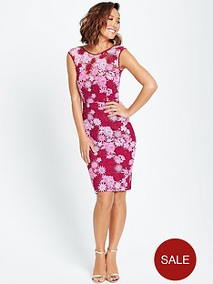 myleene-klass-multi-coloured-lace-dress