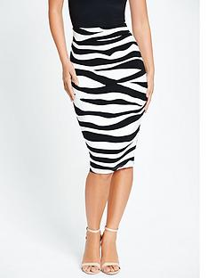 myleene-klass-zebra-pencil-skirt-with-exposed-zip