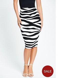 myleene-klass-zebra-pencil-skirt-with-exposed-zip