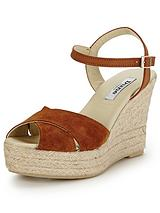 Koopa Suede Espadrille Wedge Sandals