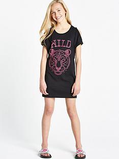 freespirit-girls-cold-shoulder-studded-wild-thing-longline-t-shirt