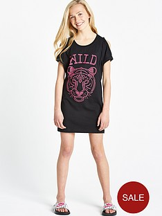 freespirit-girls-cold-shoulder-studded-wild-thing-longline-t-shirt