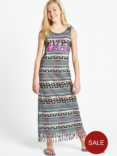 freespirit-girls-fringed-maxi-dress
