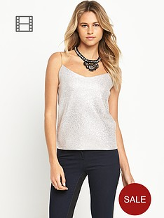 love-label-foil-strappy-cami