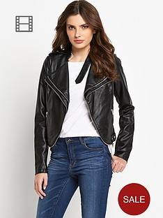 definitions-pu-zip-biker-jacket
