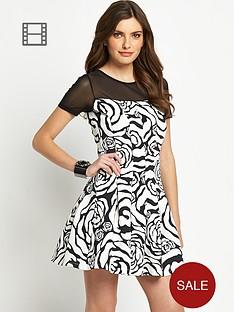 definitions-large-floral-print-mesh-insert-dress