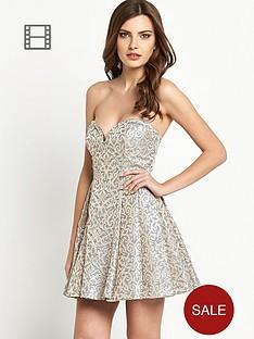 definitions-strapless-jacquard-prom-dress