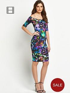 definitions-bardot-scuba-printed-dress