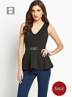 definitions-v-neck-peplum-top-with-metal-detail