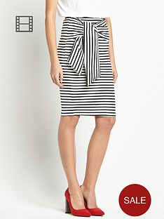 definitions-stripe-pencil-skirt