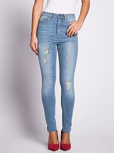 samantha-faiers-light-distressed-skinny-jeans