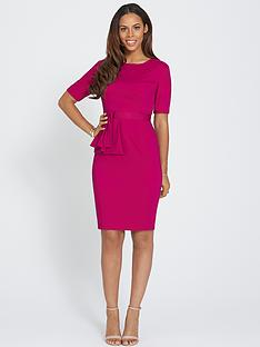 rochelle-humes-pleated-peplum-dress