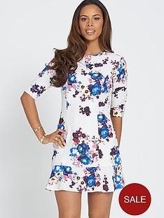 rochelle-humes-printed-peplum-dress