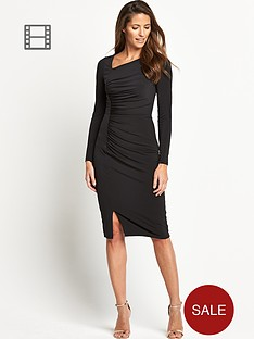 savoir-asymmetric-neck-dress