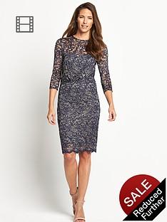 savoir-lace-rouched-dress