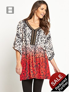 savoir-printed-embellished-kimono-top