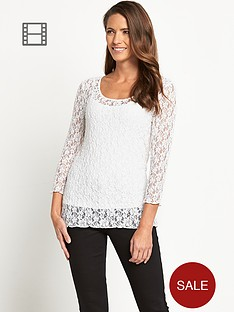 savoir-bubble-lace-top