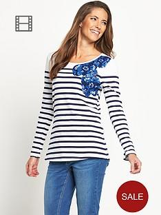 savoir-placement-floral-stripe-top