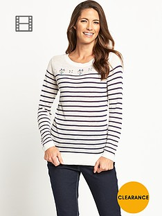 savoir-lightweight-linen-blend-embellished-stripe-jumper