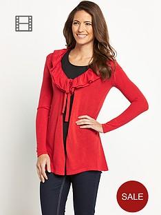 savoir-ruffle-front-supersoft-cardigan