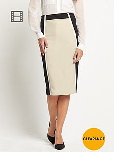savoir-textured-crepe-colour-block-pencil-skirt