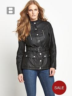 savoir-pu-belted-jacket