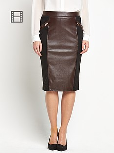 savoir-embossed-snake-pu-pencil-skirt