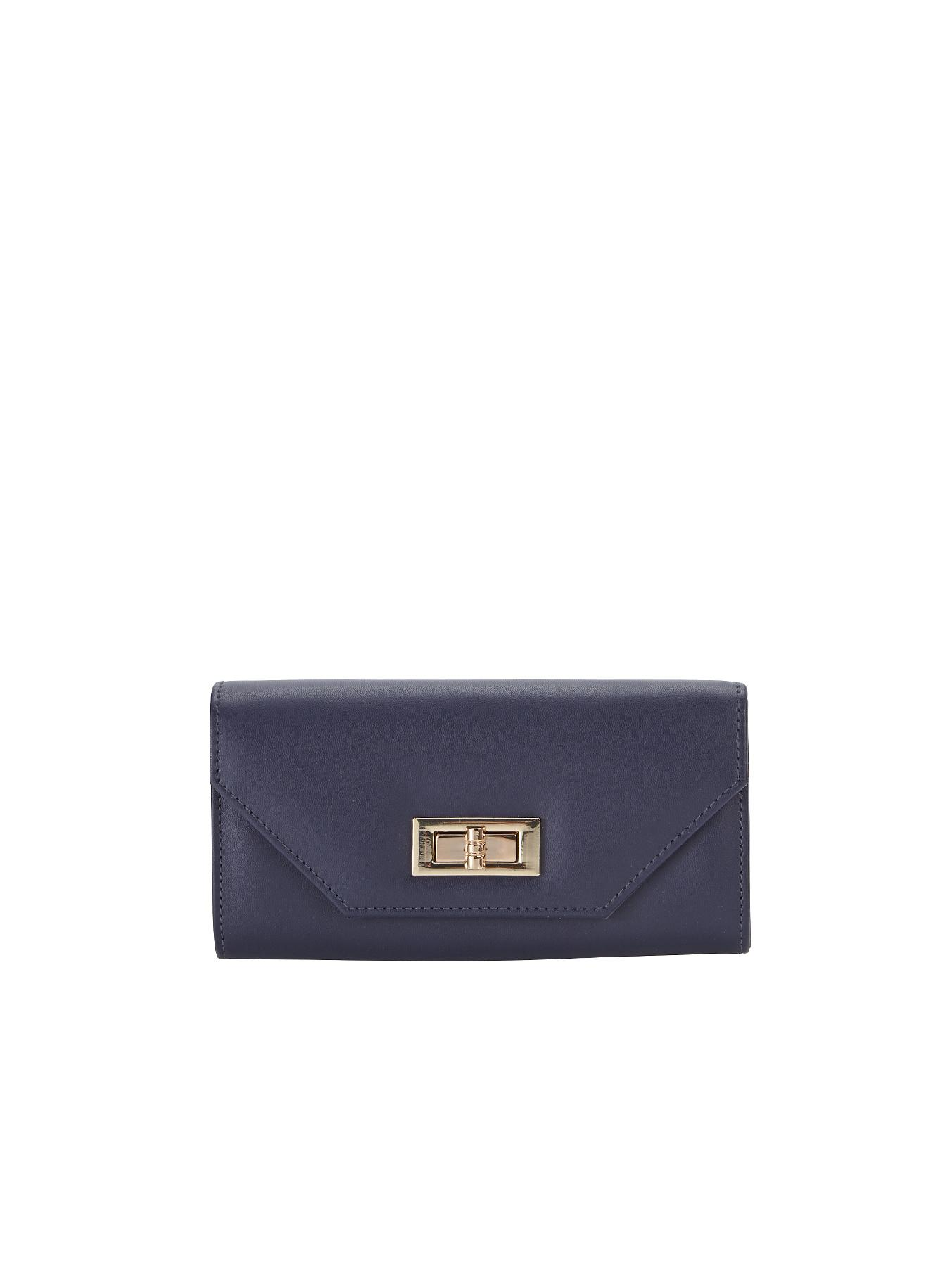 Bea Turnlock Purse, Navy,Grey at Littlewoods