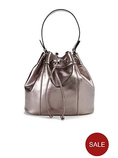 metallic-duffle-bag