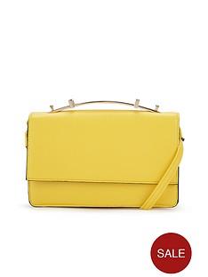 metallic-handle-cross-body-bag-yellow