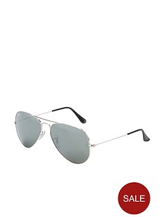 ray-ban-aviator-sunglasses-silver