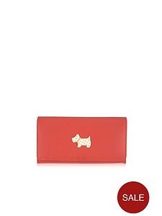 radley-heritage-dog-flapover-matinee-purse-orange