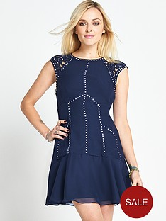 fearne-cotton-stud-and-lace-detailed-dress