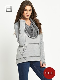 bench-intersektion-draped-neck-sweat-top