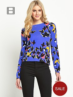 oasis-placement-print-butterfly-jumper