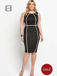 ax-paris-curve-panelled-midi-dress