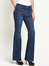 Sexy High-Waist Chelsea Kickflare Jeans