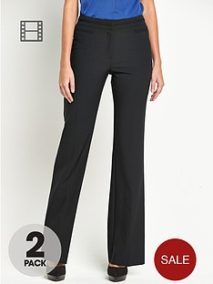 south-bootcut-smart-trousers-2-pack