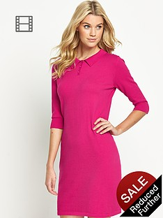 south-petite-lightweight-knitted-polo-dress