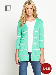 south-sheer-yarn-stripe-cardigan