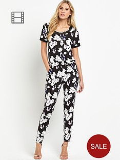 south-tall-printed-short-sleeved-jumpsuit