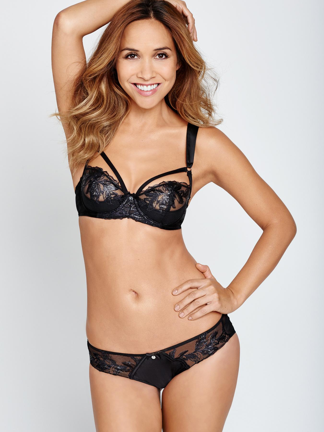 Feathers Embroidery Briefs, Black at Littlewoods