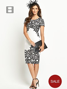 berkertex-lace-monochrome-dress