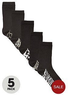 intimates-essentials-animal-footbed-crew-socks-5-pack