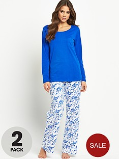 sorbet-long-sleeved-floral-pyjamas-set-2-pack